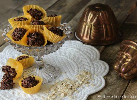 Tartufini ai fiocchi d'avena cocco e cacao