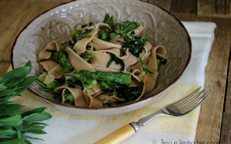 Pappardelle di grano monococco ai carletti e asparagi