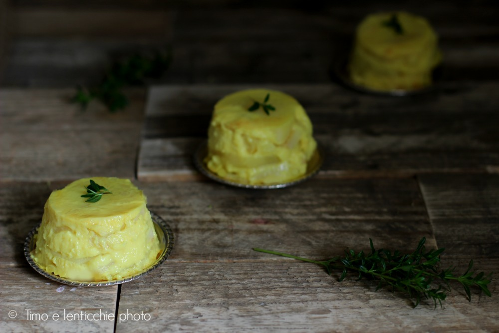 Sformatini di patate e asparagi