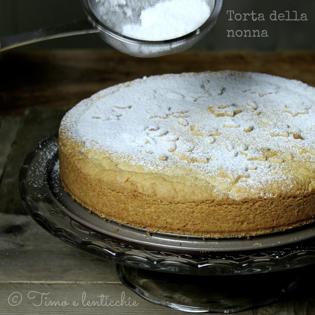 torta della nonna veg
