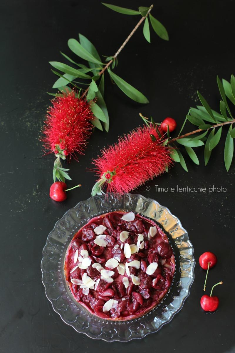 vegan cheesecake alle ciliegie e mandorle 1