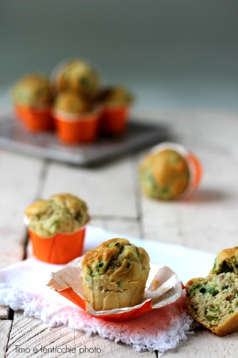Mini muffin salati ai fagiolini