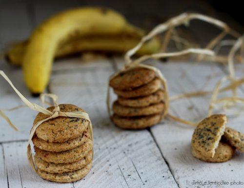 Biscotti alla banana e papavero