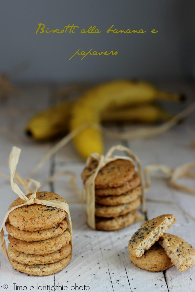 biscotti alla banana e papavero 1
