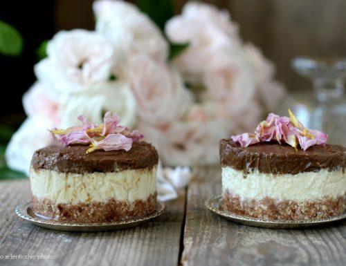 Cheesecake al cioccolato e avocado