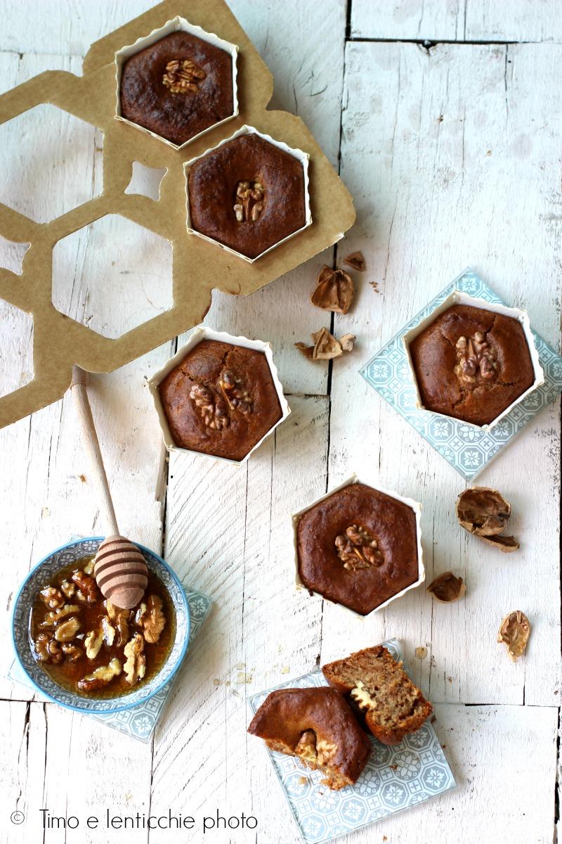 muffin alle noci e miele di tiglio 4