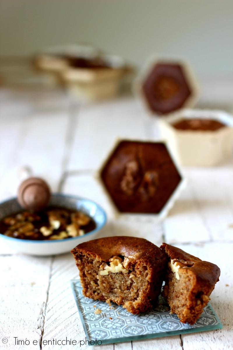 muffin alle noci e miele di tiglio