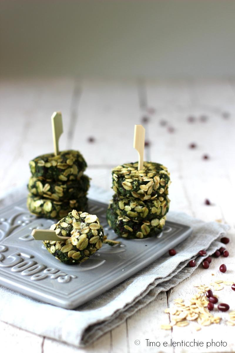 polpette di azuki e spinaci