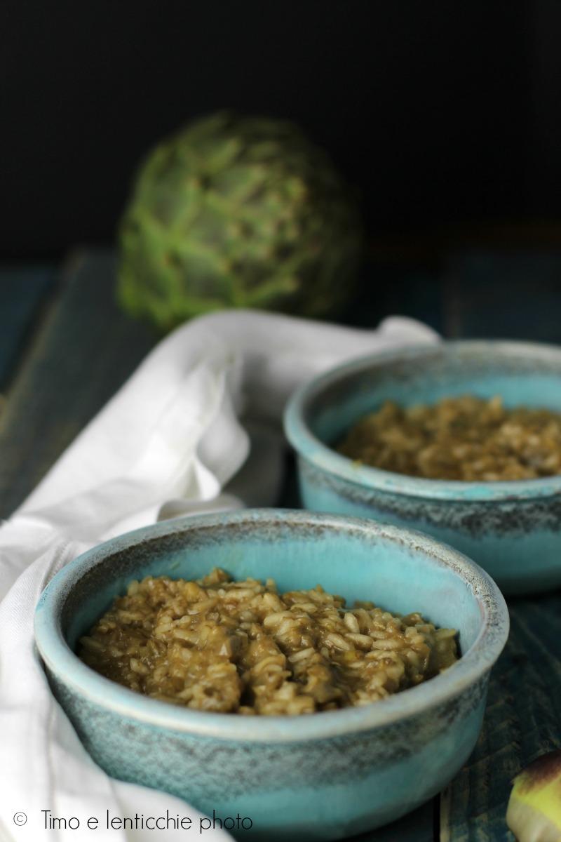 risotto di carciofi con riso integrale 1