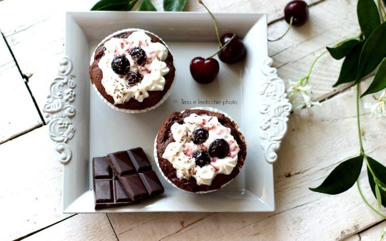 Vegan cupcakes foresta nera