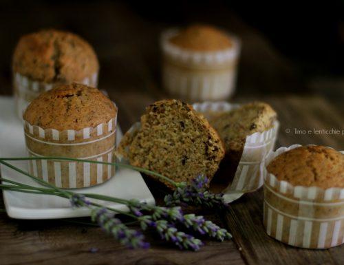 Veg muffin del mattino alla lavanda