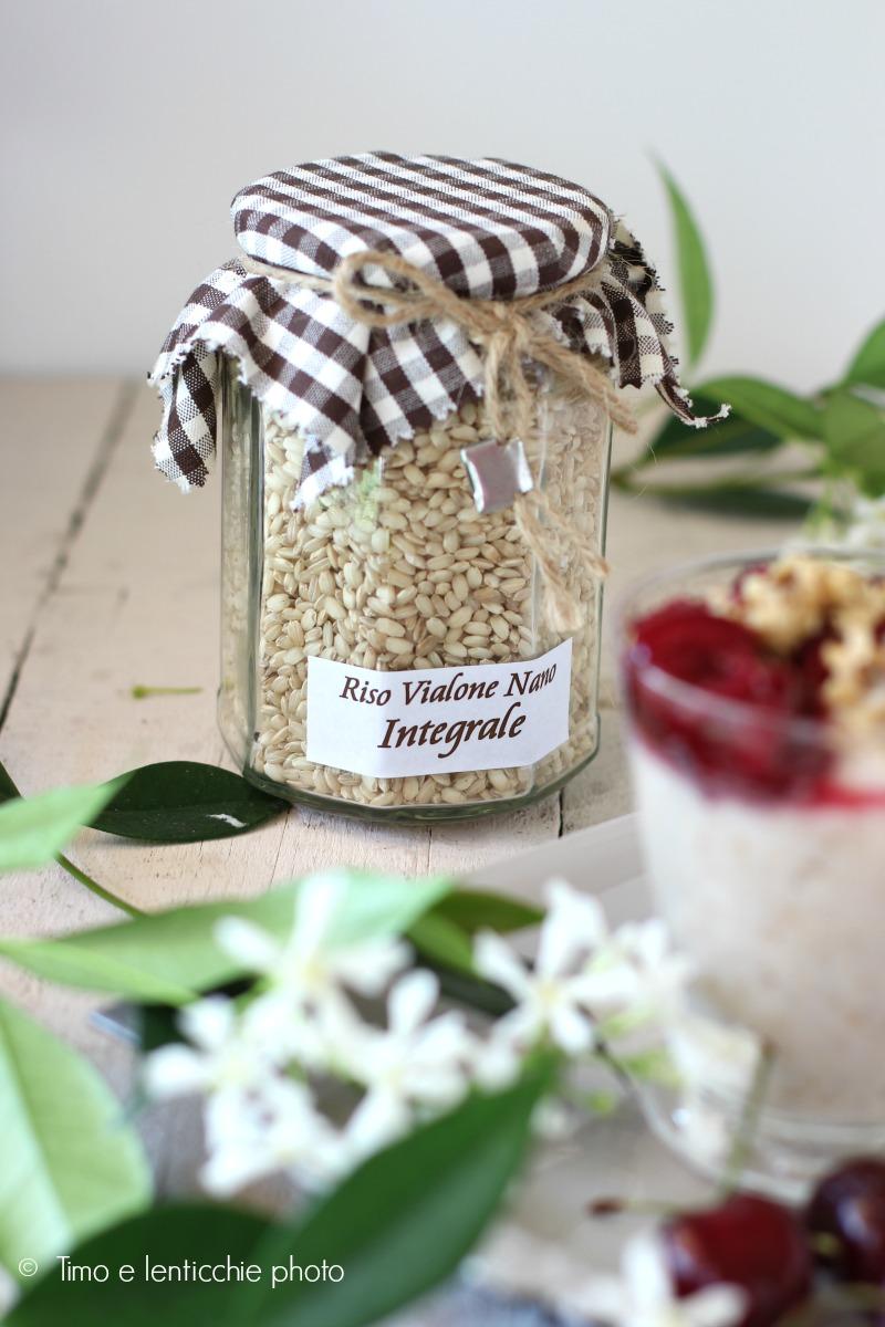 Pudding di riso integrale con ciliegie e noci timo e lenticchie - Cucinare riso integrale ...