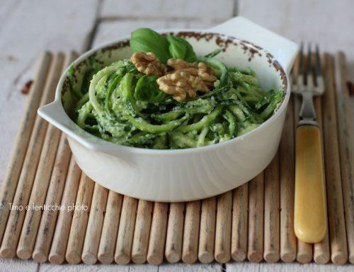 Ricetta spaghettoni di zucchine raw