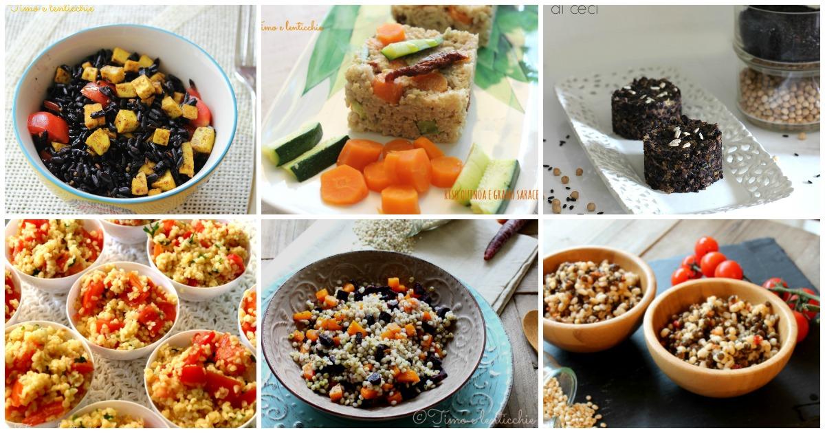 Raccolta ricette veg estive con cereali