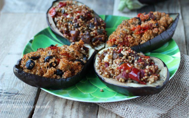 Melanzane ripiene ai cereali senza glutine