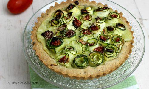 Torta brisè salata zucchine e pomodori secchi