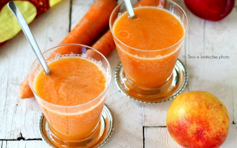 Estratto al beta carotene carote pesche gialle melone