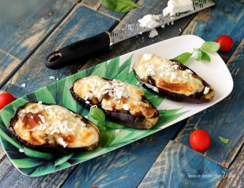 Melanzane papoutsakia alla greca vegetariane