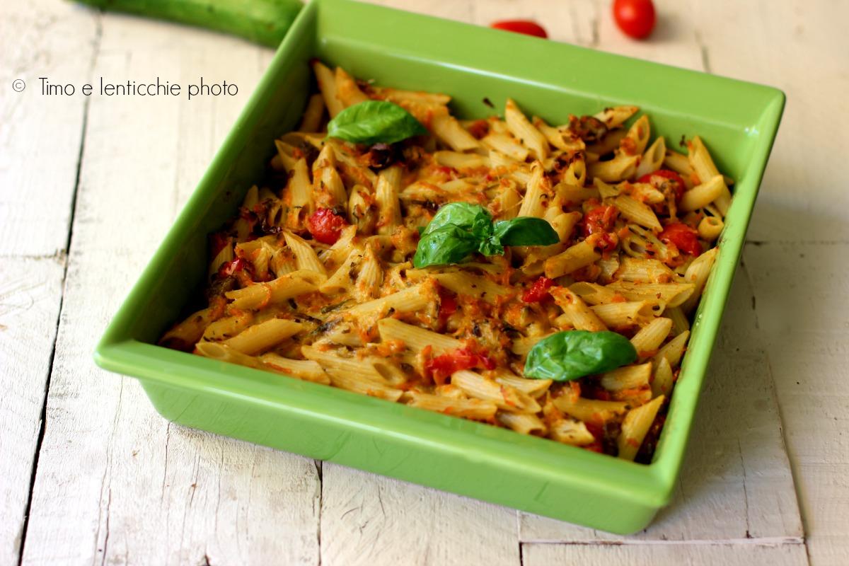 Pasticcio di pasta al forno light vegan