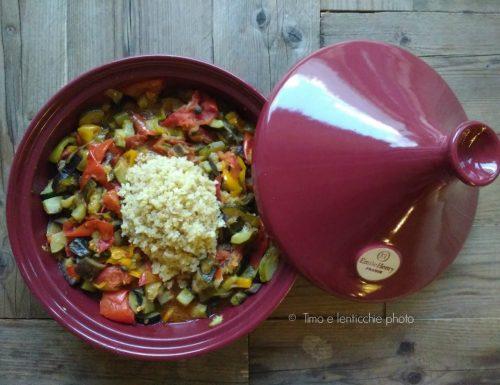 Tajine di  verdure e bulgur ricetta veloce e light