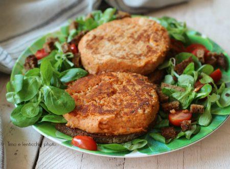 Burger di fagioli corona e orzo su pan di segale