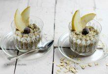 Porridge di avena alla nocciola e semi di chia