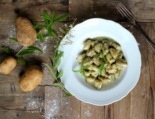 Gnocchi di patate alla crema di erba Luigia