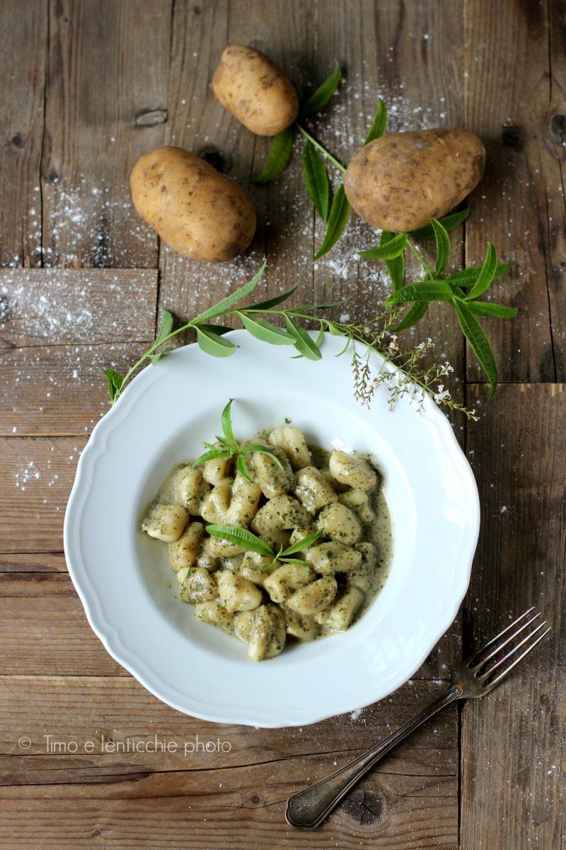 Gnocchi di patate alla crema di erba Luigia 3