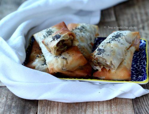 Involtini di pasta fillo alle verdure