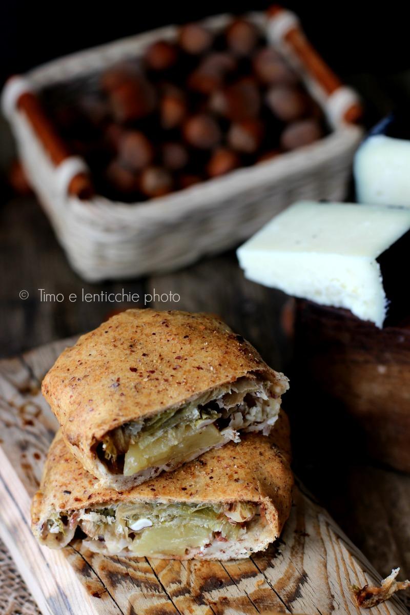 Mini strudel farina di farro alle nocciole scarola e mele 2