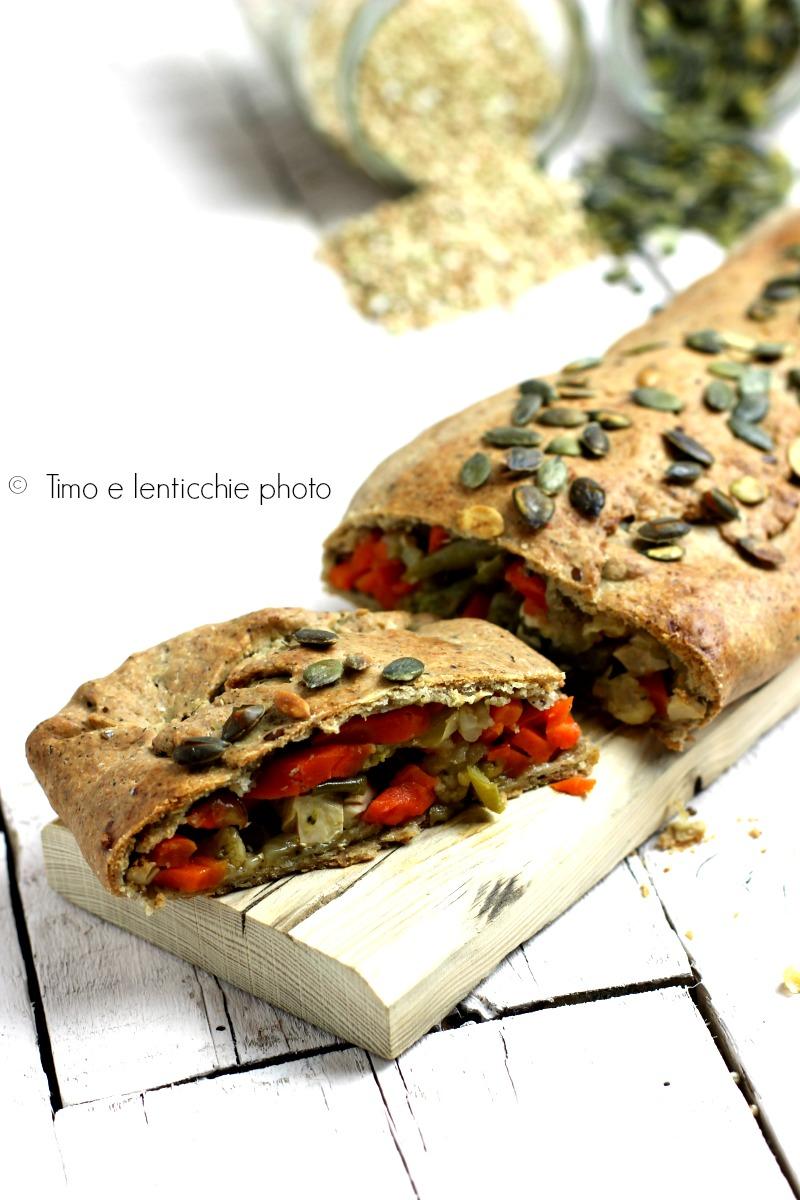 Strudel pasta matta farro integrale e verdure 2