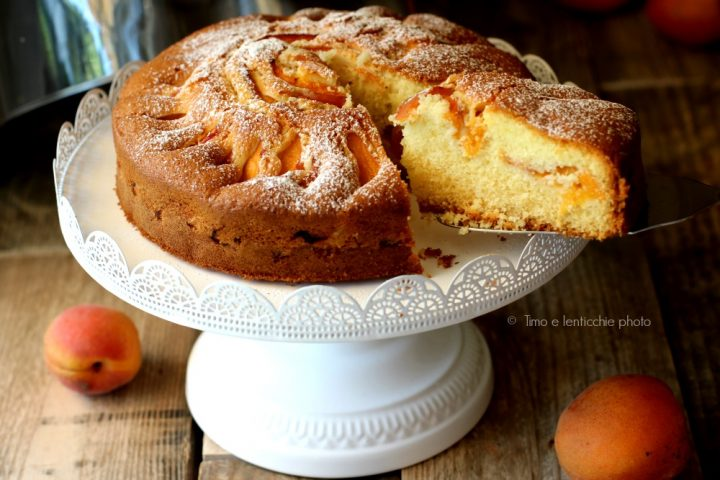 Torta soffice albicocche gluten free