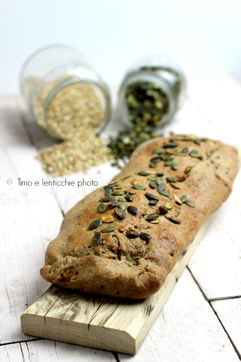Strudel pasta matta di farro integrale e verdure