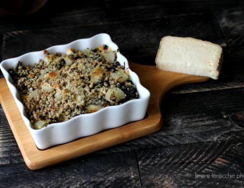 Sformato al morlacco del Grappa grano saraceno e topinambur
