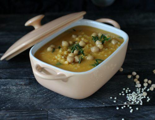 Zuppa di ceci e sorgo con zucca