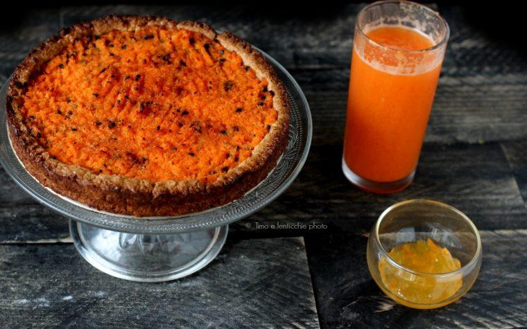 Crostata all'olio con carote e arancia ricetta del riciclo