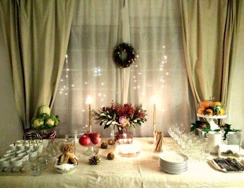 Buffet e mise en place San Silvestro Oro di natura