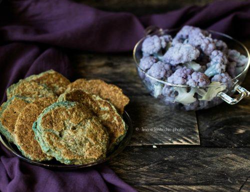 Pancakes salati di cavolfiore viola