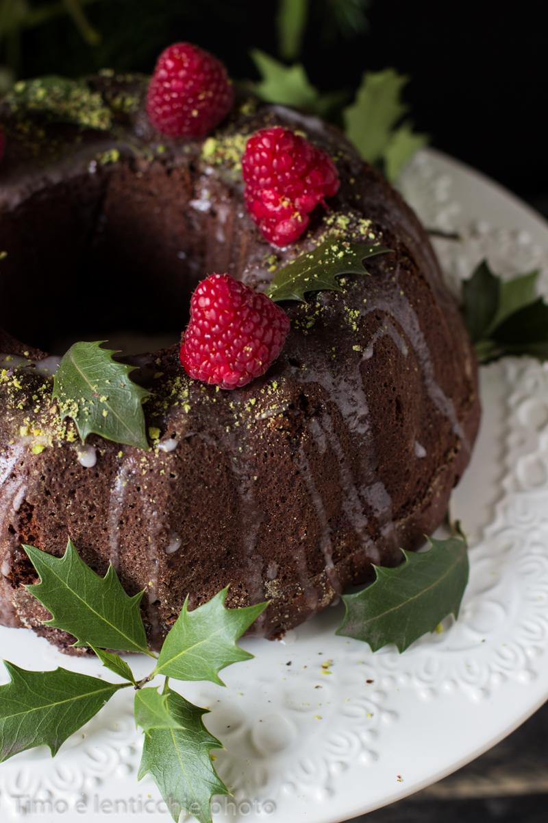 Vegan bundt cake cioccolato e lamponi 2