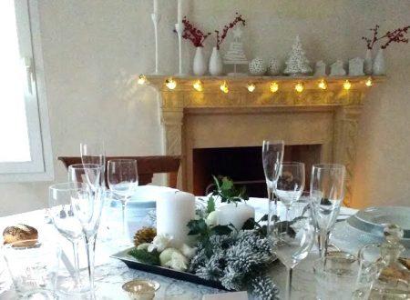 Pranzo di Natale mise en place e menu (White Christmas)