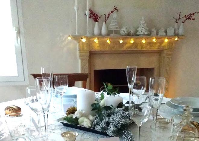 Pranzo di Natale mise en place e menu (White Chrismas)