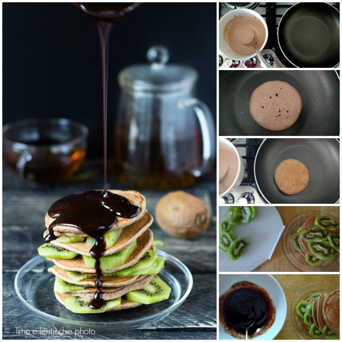 Pancakes al farro integrale e kiwi ricetta vegan 2