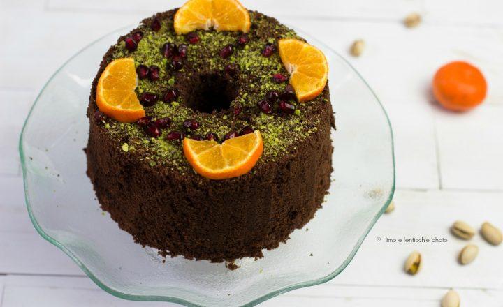 Chiffon fluffosa al cioccolato e mandarino senza glutine