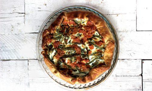 Torta salata fagiolini e batata piatto unico veg