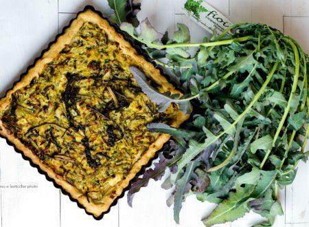 Torta salata al broccolo fiolaro e porri