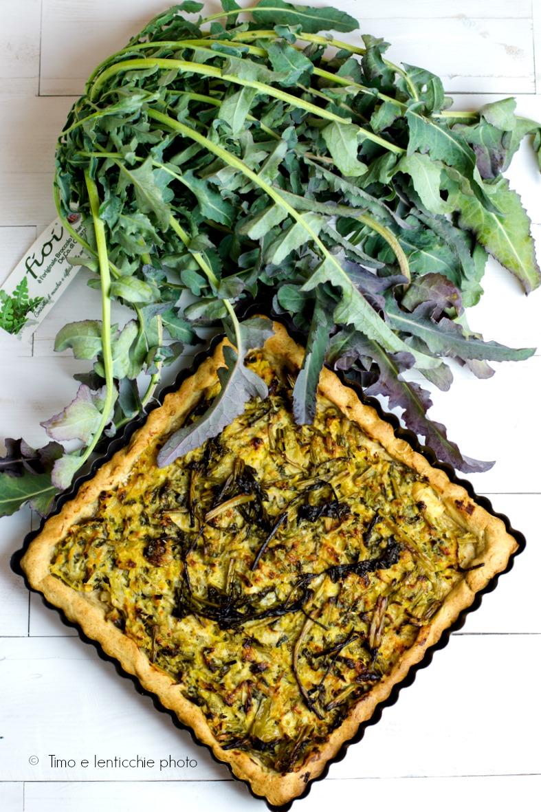 Torta salata broccolo fiolaro e porri
