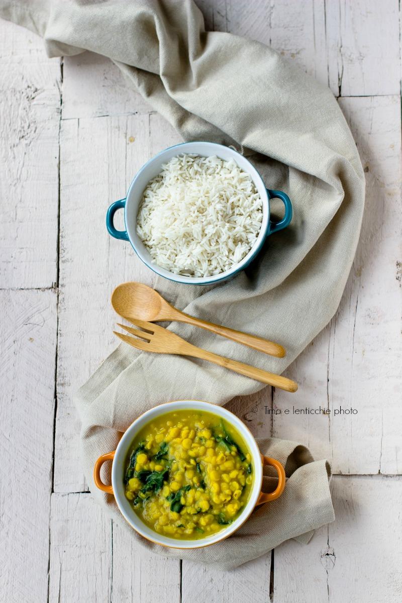 Zuppa di ceci alla curcuma e spinaci palak chana dal 3