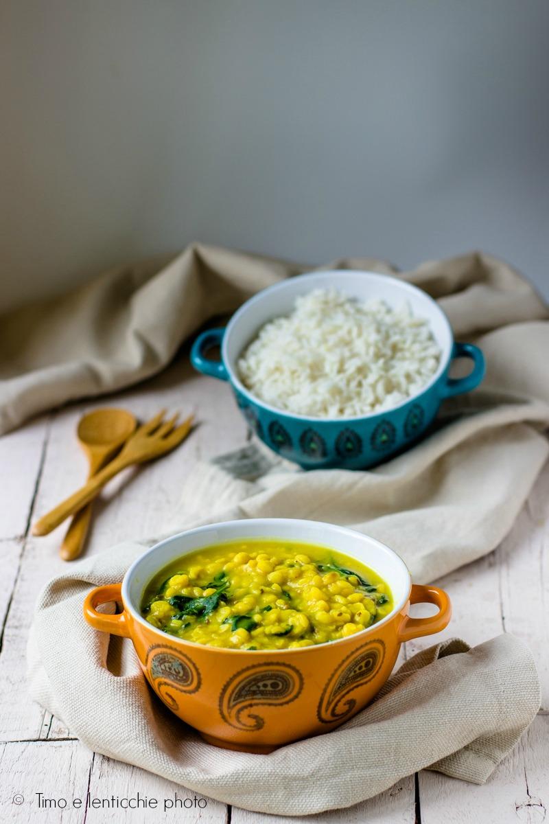 Zuppa di ceci alla curcuma e spinaci palak chana dal 1