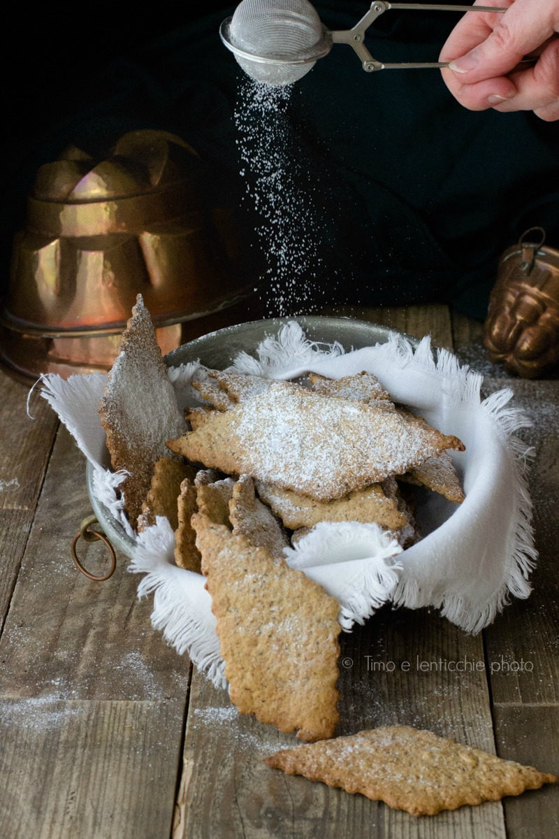 Biscotti di farro spelta integrale finte chiacchere 3