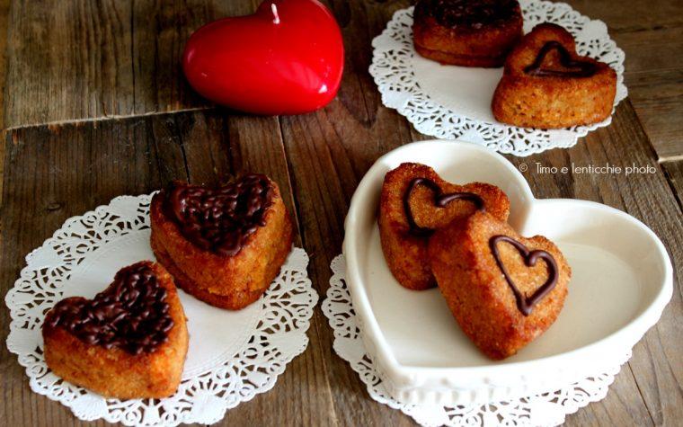 Dolcetti a cuore mandorle e cocco senza glutine vegan